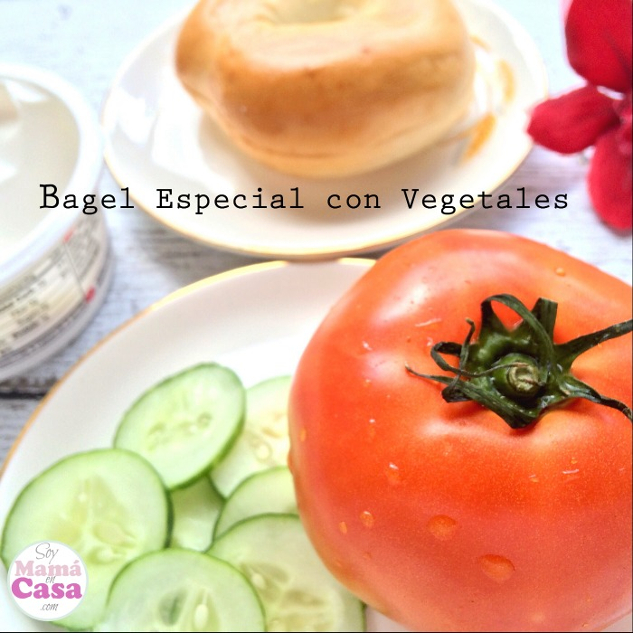 bagel con vegetales #lunessincarne #meatlessmonday