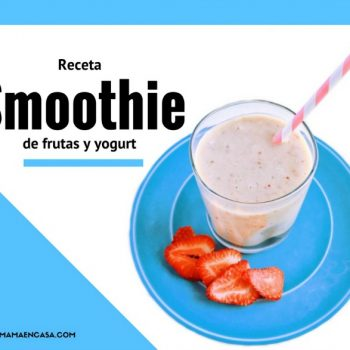 Receta de smoothie de frutas y yogurt