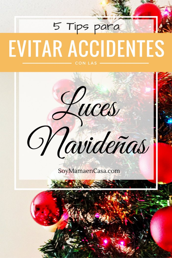 evitar accidentes con luces navideñas