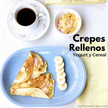 crepes rellenos de yogurt y cereal